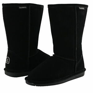 BEARPAW EMMA TALL BOOTS GIRLS YOUTH SIZE 2,3,4,5/ 608 Y/ BLACK