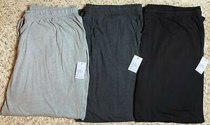 Men's Croft & Barrow Big & Tall Solid Knit Sleep / Pajama Pants, Gray, Black,NWT