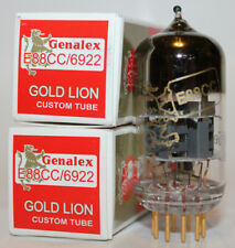 Matched Pair Genalex Gold Lion ECC88/6922 tubes, Brand New in Box