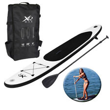 Paddle Board 10 FT (ca. 3.05 m) Nero Sport Surf Gonfiabile Stand Up Acqua RACING SUP POMPA
