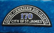 CANADA Royal Canadian Air Cadets CITY OF ST JAMES 170 squadron shoulder flash