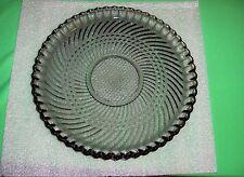 Vintage Libbey Glass Dinner Plate Dinnerware Lrs45 Smoke Canada Diamond Scroll