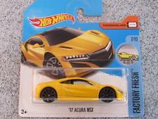 Hot Wheels 2017 #127/365 2017 Acura Nsx Amarillo fábrica fresca