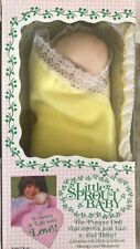80's Little Sprout Baby Puppet Doll Birth Certificate Blanket Bassinet Yellow