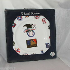 ROYAL DOULTON MLB BASEBALL PLATE AMERICAN LEAGUE 125th ANNIV RARE ONLY 1250 MADE