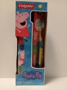 Children's Toothpaste & Toothbrush Sets PJ Masks Peppa Pig 5 Colors NEW