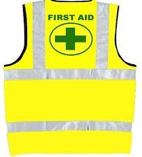 Hi Vis Vest PRINTED FIRST AID,High Visibility/ Reflective, Safety Vest Jacket