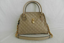 MARC JACOBS LACQUERED QUILTING CLASSIC IVORY SATCHEL HANDBAG