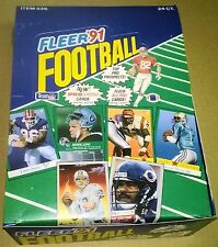 1991 Fleer Football Rack Pack Box 24 ct. Inserts-Stars