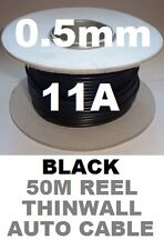 50m Auto Cable carrete 0,5 Mm 12 V 11 A coche vehículo automóvil Alambre 16/0.2 50 Metros