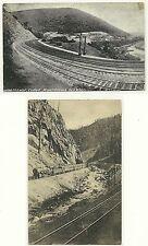 "Lot of 2-RPPC Post Cards, ""Horseshoe Curve/Penn,&Denver&Rio Grande/CO.1900's~"