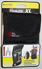 TOOL BELT POUCH HOLSTER MULTI TOOL POCKET KNIFE FLASHLIGHT POCK ITS XL NITE IZE