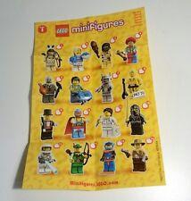 LEGO Series 1 Minifigures 8683 - Checklist Flyer Leaflet Instructions NEW