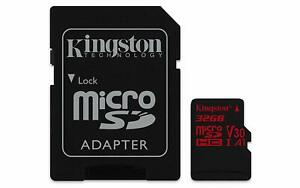 KINGSTON Canvas React MicroSD 32GB with SD adapter SDCR/32GB