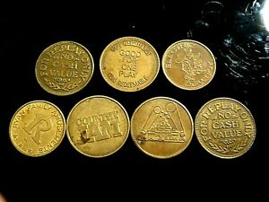 No Cash Value Vintage Token Lot Ryans Amusement Funtime Country Jam and more