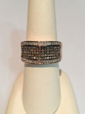 1.50 Ct Champagne Diamond Ring, Vermeil Rose Gold, .925 SS Ring SZ 8 MSRP $2199