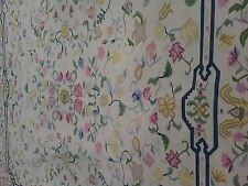 Large 12 X 12 Vintage Arraiolos Rug Portuguese Needlepoint Floral Pattern