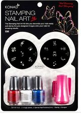 Konad Stamping Nail Art Set C starter kit 3 polishes 5ml & 2 stamping plates