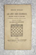 ABEN EZRA ET ABEN-YE'HIA. DÉLICES ROYALES OU LE JEU DES ÉCHECS. 1864.