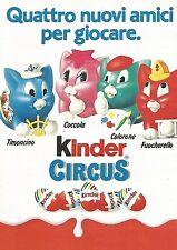 X1542 Kinder Circus - 4 amici per giocare - Pubblicità del 1991 - Vintage advert