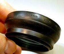 Nikon HR-4 Lens 52mm Rubber Hood shade 50mm f/1.8 Nikkor & E series Ai-s Genuine