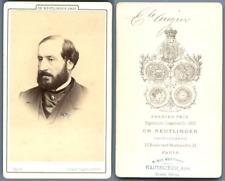 Reutlinger, Paris, Emile Augier, dramaturge Vintage carte de visite, CDV.Guill