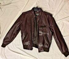 VTG Members Only Cafe Racer Moto Leather Jacket 40 Dark Brown Soft RAD