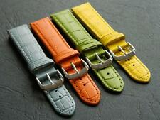 Watch Strap For Ladies Genuine Calf Leather Embossed Croco Grain Padded 18mm