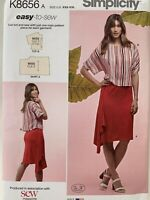 Simplicity Uncut Sewing Pattern For Ladies Skirt And Top K8656 Size US XXS - XXL