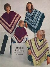KNITTING & CROCHET PATTERN LADIES GIRLS VINTAGE PONCHO