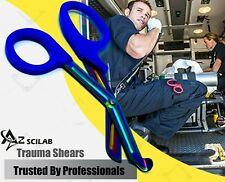 Heavy Duty Military Style Trauma Emtparamedic Shears Blue Multi Color Blades
