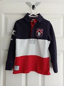 Boy's Long Sleeve Rugby Polo Shirt from TU at Sainsburys Age 5 Years