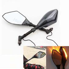Amber LED Turn Signal Mirror For Honda Shadow VT 600 700 750 1100 VT1300 Fury
