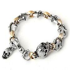Guntwo Korean Mens Fashion Bracelets - Biker, Hip Hop Skull Bracelet B3184 US