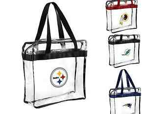 NFL Clear Messenger  Tote Bag Purse- See Through For Football Stadium
