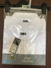 Pack Of 2 Next White Polo Shirts Age 15 Years