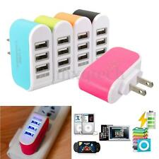 Mini 3 Ports USB Wall Charger 3.1A  LED Travel Home Power Adapter Car Charging