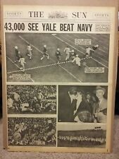 Oct 18 1936 43,000 See Yale Beat Navy Newspaper Page Baltimore Sun
