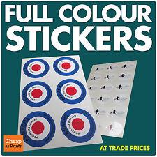 Full colour self adhésif vinyle autocollants / étiquettes • d'impression personnalisés • bas prix
