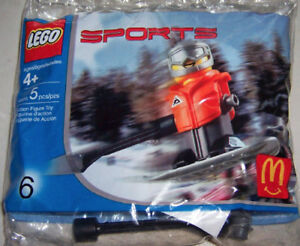 2004 McDonalds Happy Meal: LEGO SPORTS #6: SNOWBOARDER - New, Sealed!
