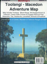 ROOFTOP'S TOOLANGI - MACEDON ADVENTURE MAP - CAMPING WALKING 4WD TRACK
