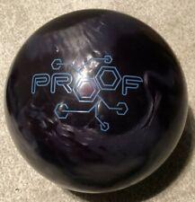 USED Track Proof Pearl Reactive Bowling Ball, Black/Smoke, 15 LB
