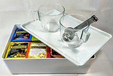 Twinings Big Box of Tea 105 Enveloped Tea Bags 2 Glass Mugs Tea Bag Squeezer