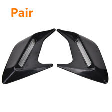 2Pcs DIY Shark Fins Style Car Body Side Air Flow Vent Grille Decorative Stickers