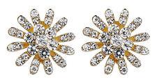 Pendientes de clip-Oro Aretes Pendientes Con Cristales-Emmy por Bello London