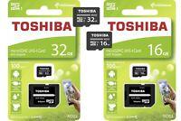 Toshiba M203 32GB 16GB Micro SD Speicherkarte Class10 UHS-I SD Adapter 100MB