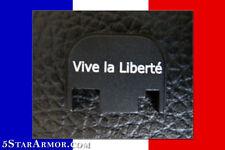 "Custom Glock Slide Cover Plate French ""Vive la Liberté"" Long Live Freedom France"