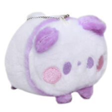 Panda Plushie Japan Super Soft Stuffed Animal Toy Keychain White Purple