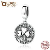 Bamoer European Retro S925 Sterling Silver Charm Dangle Fit Bracelets Jewelry