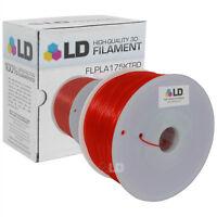LD Translucent Red 1.75mm 1kg PLA 3D Printer Filament